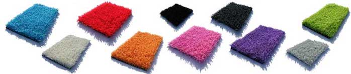 gazons artificiels de toutes les couleurs